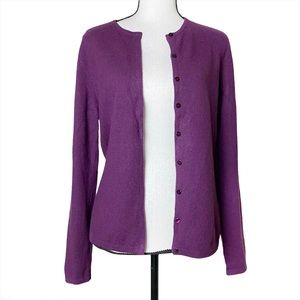 Lord & Taylor Purple Cashmere Sweater